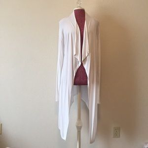 White Cardigan with Cascade Front
